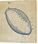 1939 Football Patent Artwork - Vintage Wood Print