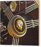 1939 Ford Standard Woody Steering Wheel Wood Print