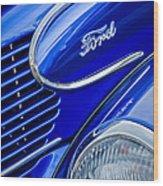1939 Ford Woody Wagon Side Emblem Wood Print