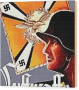 1939 German Luftwaffe Recruiting Poster - Color Wood Print
