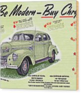 1939 Imperial Vintage Automobile Ad Wood Print