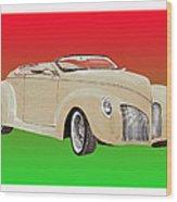 1939 Lincoln Zephyr Speedster Wood Print by Jack Pumphrey