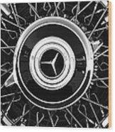 1939 Mercedes-benz 540k Special Roadster Wheel Rim Emblem Wood Print