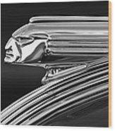 1939 Pontiac Silver Streak Hood Ornament 3 Wood Print