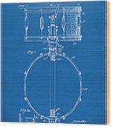 1939 Snare Drum Patent Blueprint Wood Print