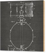 1939 Snare Drum Patent Gray Wood Print