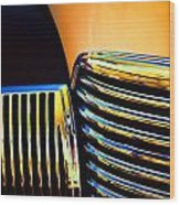 1939 Studebaker Champion Grille Wood Print by Carol Leigh
