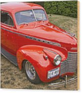 1940 Chevrolet 2 Door Sedan Wood Print