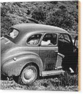1940 Chevrolet Special Deluxe 4 Door Wood Print