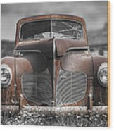 1940 Desoto Deluxe With Spot Color Wood Print