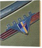 1940 Dodge Nameplate Wood Print