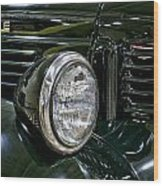 1940 Dodge Pickup Headlight Grill Wood Print