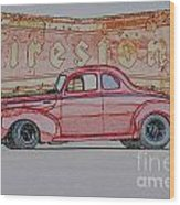 1940 Ford Coupe Illustration Wood Print