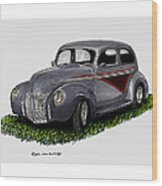 1940 Ford Custom Street Rod Wood Print