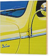 1940 Ford Deluxe Side Emblem Wood Print