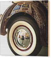 Classic Maroon 1940 Ford Rear Fender And Wheel   Wood Print