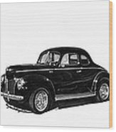 1940 Ford Restro Rod Wood Print