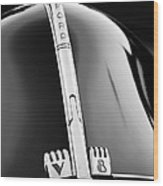 1940 Ford V8 Hood Ornament -323bw Wood Print