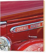 1940 Gmc Side Emblem Wood Print
