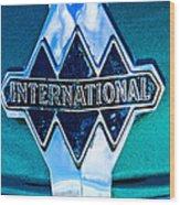 1940 International Emblem Wood Print