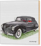 Lincoln Zephyr Cabriolet Wood Print