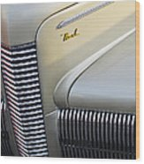 1940 Nash Grille Wood Print by Jill Reger