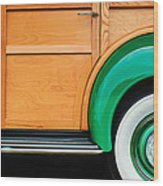 1940 Packard 120 Woody Station Wagon Wheel Emblem Wood Print