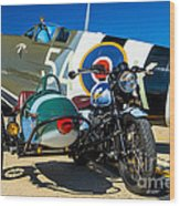 1940 Triumph And Supermarine Mk959 Spitfire  Wood Print