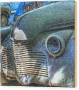 1940s Antique Chevrolet Hood View Wood Print