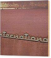 1940s Era International Harvester Truck Insignia Wood Print