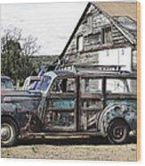 1940s Era Packard Wood-panel Wagon Wood Print