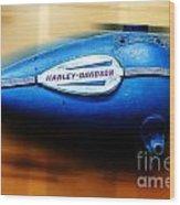 1940s Harley Tank Wood Print