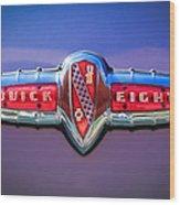 1941 Buick Eight Special Emblem Wood Print
