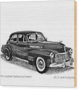 1941 Cadillac Fleetwood Sedan Wood Print