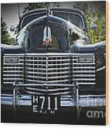 1941 Cadillac Front End Wood Print