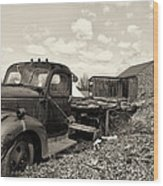 1941 Chevy Truck In Sepia Wood Print