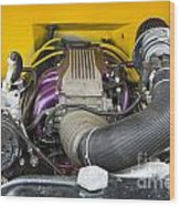 1941 Ford Pickup Engine Motor  Classic Automobile In Color 3082. Wood Print