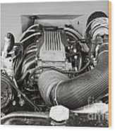 1941 Ford Pickup Engine Motor  Classic Automobile In Sepia 3082.01 Wood Print