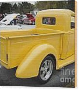 1941 Ford Pickup Truck Side View  Classic Automobile In Color 30 Wood Print