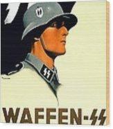 1941 - German Waffen Ss Recruitment Poster - Nazi - Color Wood Print