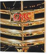 1941 Gmc Suburban Woody Wagon Grille Emblem Wood Print