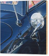 1941 Lincoln Continental Convertible Emblem Wood Print