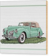1941 Lincoln V-12 Continental Wood Print