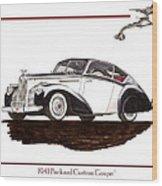 Packard Custom Coupe 120 Wood Print