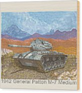 1941 W W I I Patton Tank Wood Print