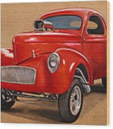 1941 Willys Gasser Coupe Drawing Wood Print