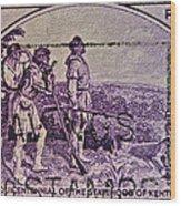 1942 Kentucky Statehood Stamp Wood Print