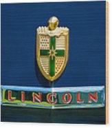 1942 Lincoln Continental Cabriolet Emblem Wood Print