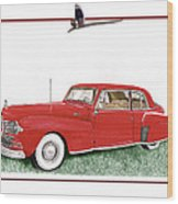 1942 Lincoln Continental Coupe Wood Print