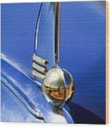 1942 Lincoln Zephyr 12 Hood Ornament Wood Print